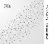 abstract dna background. vector ... | Shutterstock .eps vector #564997717