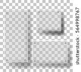 set of glass square ... | Shutterstock .eps vector #564998767