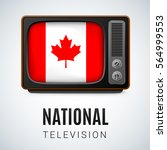 vintage tv and flag of canada...   Shutterstock .eps vector #564999553