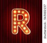 realistic retro gold lamp bulb... | Shutterstock .eps vector #565002157