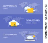 cloud computing storage service ... | Shutterstock .eps vector #565005043