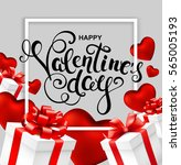 happy valentines day greeting... | Shutterstock .eps vector #565005193