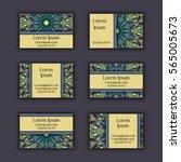 vector business card design... | Shutterstock .eps vector #565005673