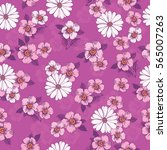 seamless pattern with hand... | Shutterstock .eps vector #565007263