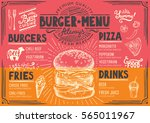 food menu for restaurant and... | Shutterstock .eps vector #565011967
