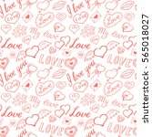 seamless pattern of hearts and... | Shutterstock .eps vector #565018027