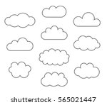 clouds line icons. vector... | Shutterstock .eps vector #565021447