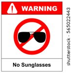 no sunglasses sign. no aviator... | Shutterstock .eps vector #565022443