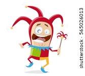 funny cartoon jester | Shutterstock .eps vector #565026013