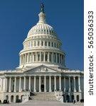 closeup of capitol building in... | Shutterstock . vector #565036333