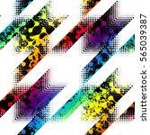 seamless geometric pattern.... | Shutterstock .eps vector #565039387