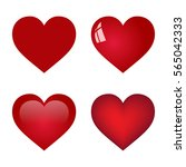 red heart collection on white... | Shutterstock . vector #565042333