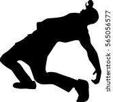 hip hop dancer silhouette on...   Shutterstock .eps vector #565056577