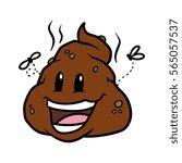 happy cartoon poop vector... | Shutterstock .eps vector #565057537