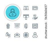 vector illustration of 12... | Shutterstock .eps vector #565060657