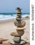 Rock Balancing  Cairn  On...