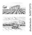 vintage engraved  hand drawn... | Shutterstock .eps vector #565071973