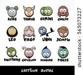 collection of cartoon zodiac... | Shutterstock .eps vector #565073227