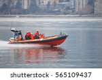 Small photo of VANCOUVER - JANUARY 26, 2017: Members of the Canada Coast Guard respond to a distress call in Vancouver on January 26, 2017.