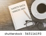 concept safety data sheets  sds ... | Shutterstock . vector #565116193