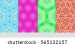 set of lace seamless pattern....