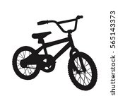 children bicycle silhouette... | Shutterstock .eps vector #565143373