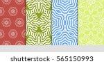 set of decorative floral... | Shutterstock .eps vector #565150993