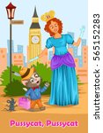 pussycat pussycat  kids english ... | Shutterstock .eps vector #565152283