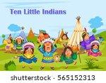 ten little indians  kids...   Shutterstock .eps vector #565152313