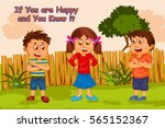 if you're happy and you know it ... | Shutterstock .eps vector #565152367