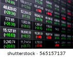 Small photo of Stock market chart,Stock market data on LED display concept.