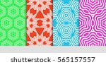 set of lace seamless pattern.... | Shutterstock .eps vector #565157557
