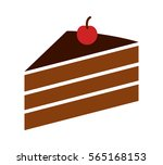 sliced of layer dessert cake... | Shutterstock .eps vector #565168153