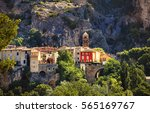 the village of moustiers sainte ... | Shutterstock . vector #565169767