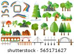 rainbows  trees and design... | Shutterstock .eps vector #565171627