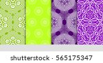 set of seamless floral pattern. ... | Shutterstock .eps vector #565175347