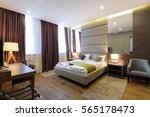 interior of hotel apartment ... | Shutterstock . vector #565178473
