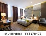 interior of hotel apartment ... | Shutterstock . vector #565178473