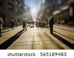 crowd of anonymous people... | Shutterstock . vector #565189483