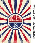 tennessee retro sunbeams poster.... | Shutterstock .eps vector #565195363