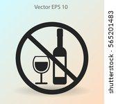no alcohol vector icon | Shutterstock .eps vector #565201483