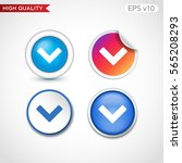 colored icon or button of down... | Shutterstock .eps vector #565208293