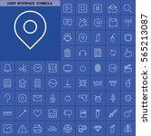 set of user interface symbols...