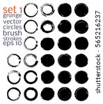 vector brush strokes circles of ... | Shutterstock .eps vector #565216237