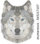 wolf polygonal graphics vector... | Shutterstock .eps vector #565217107