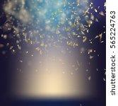 randomly flowing confetti... | Shutterstock .eps vector #565224763