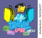 doodle hand drawn travel...   Shutterstock .eps vector #565226257