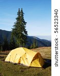 camping tent in mountains   Shutterstock . vector #56523340