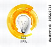 idea. design of progress bar ... | Shutterstock .eps vector #565239763