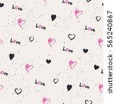 seamless hearts pattern   Shutterstock .eps vector #565240867